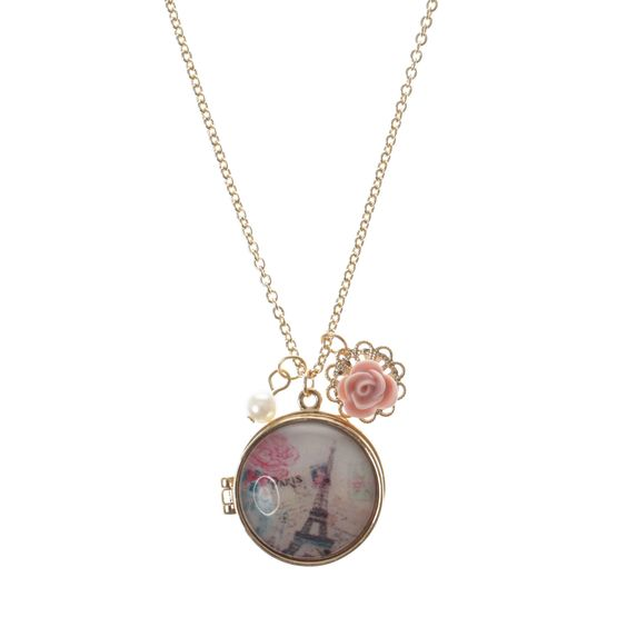 Pink Paris Locket Pendant Necklace, Necklaces, Pink Paris, Christmas Shop, Shop By Collection, Shop By Category, all, Jewellery, Pendant, Jewellery, What's New, Shop £3 or Less, Old Top Picks, Buy One Get One 50%, Dummy Promo Fashion trends, accessories and jewellery for young women