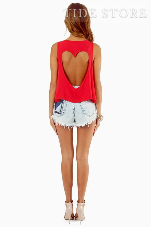Heart shaped cutted top <3