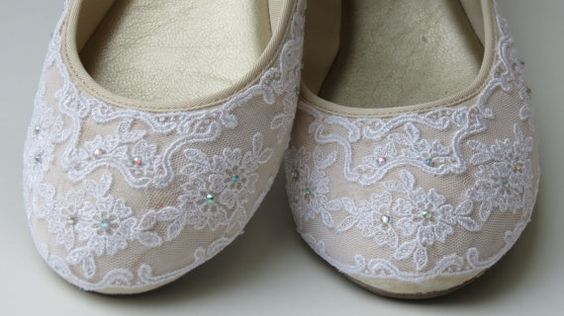 WeDDING LACe FLATS MADeRIA Collection IVORY by MaryMarryMe