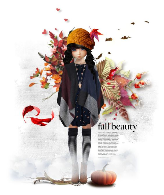 """Happy Autumn"" by foreeva ❤ liked on Polyvore featuring art, doll and autumn"
