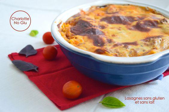 Lasagnes, sans gluten et sans caséine #justacote www.justacote.com