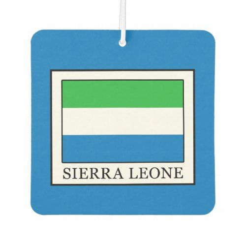 Sierra Leone Car Air Freshener Zazzle Com Sierra Leone Car Air Freshener Gifts For Family
