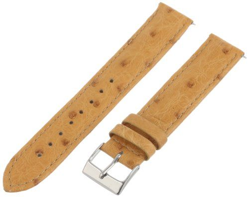 Swiss Watch International 18 MM Tan Genuine Ostrich Strap 18OS12M $42.00 (save $158.00)
