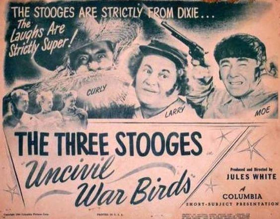 UNCIVIL WAR BIRDS (1946) - THE THREE STOOGES