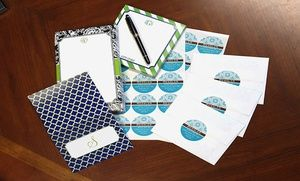Groupon - Personalized Stationery, Notepads, and Labels from Paper Concierge in [missing {{location}} value]. Groupon deal price: $22