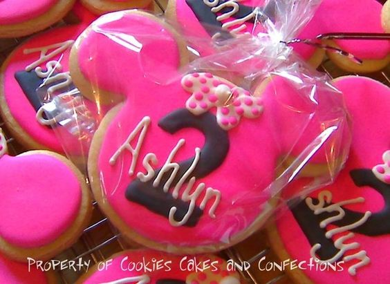 Minnie Mouse 2nd birthday cookies for our trip in 2 years!