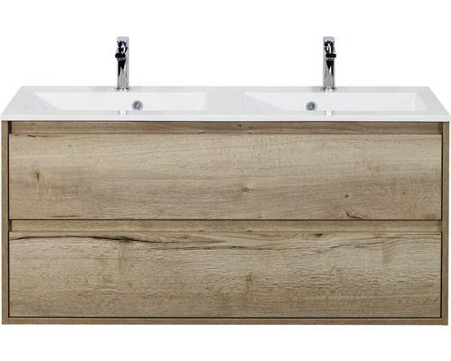 Badmobel Set Porto Eiche 65 5x120 Cm In 2020 Badmobel Set Waschtischunterschrank Und Doppelwaschtisch