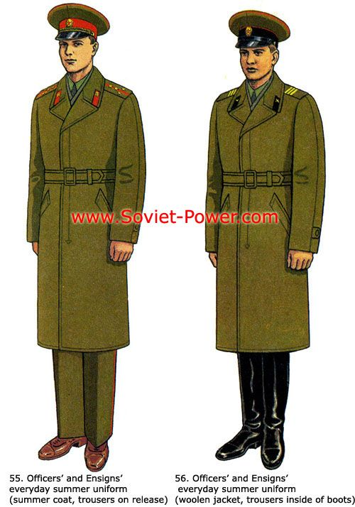 Soviet Army officers' and ensigns' everyday summer uniform (with