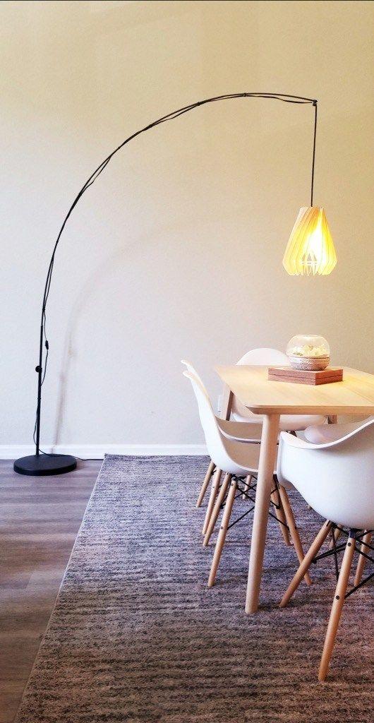 Balsa Turbine Shade For The Regolit Floor Lamp