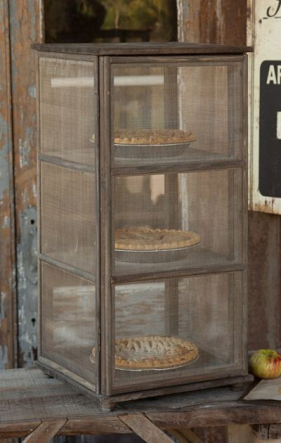 Grandma's Window Screen Pie Safe... Very interesting Website for Old Type Farm - Survival homestead: