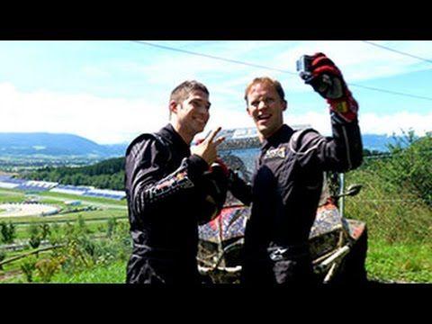 DTM Spielberg 2014 - Audi goes Off Road // Die Audi DTM Fahrer Mattias Ekström und Edoardo Mortara waren abseits der Strecke unterwegs. Im Off Road Park vom Red Bull Ring durften sich die Beiden mit Buggys im Gelände austoben. Beide hatten sichtlich Spaß.