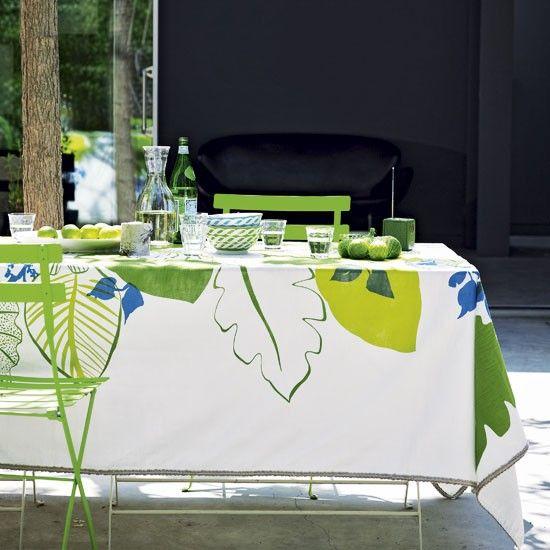 Garten Terrasse Wohnideen Möbel Dekoration Decoration Living Idea Interiors home garden - Bunte Speisebereich im Freien