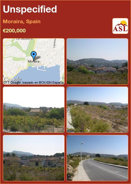 Unspecified in Moraira, Spain ►€200,000 #PropertyForSaleInSpain