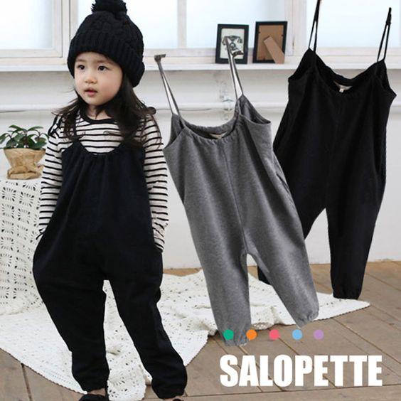【子供服80~120cm】ベビー・キッズサロペット着心地やわらかカットソー素材オーバーオール・オールインワン