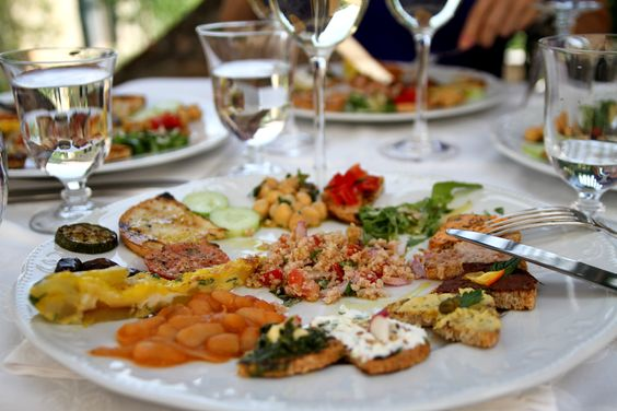 Lunch in Tuscany.
