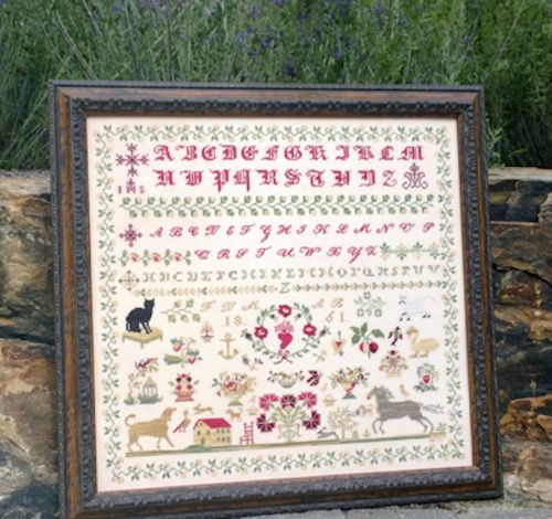 10%Off Samplers Not Forgotten Counted Cross-stitch chart - Black Cat 1861 #SamplersNotForgotten