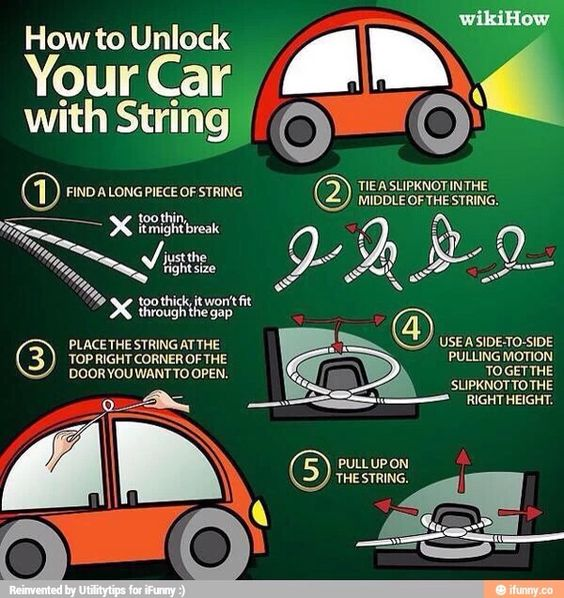How to get into your locked car by using a piece of string