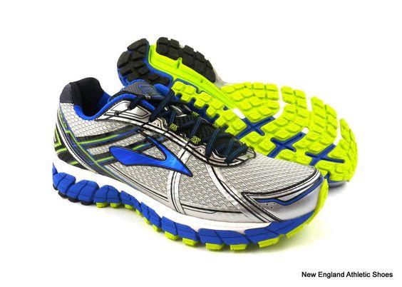 Brooks men Adrenaline GTS 15 running shoes size 10.5 -  White / Olympic / Lime  #Brooks #RunningCrossTraining