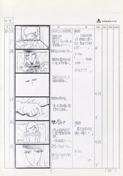 劇場 銀河鉄道999絵コンテ Galaxy Express 999 #Toei #animation - anime storyboard