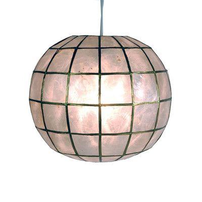 Oriental Furniture Princess Capiz 1 Light Hanging Pendant & Reviews | Wayfair