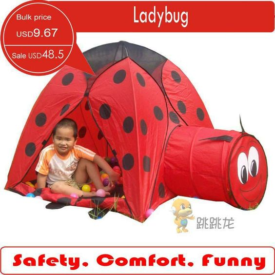 Funny Ladybug ball pits Play Tent With Play Tunnel play ground play games  sc 1 st  Pinterest & Funny Ladybug ball pits Play Tent With Play Tunnel play ground ...