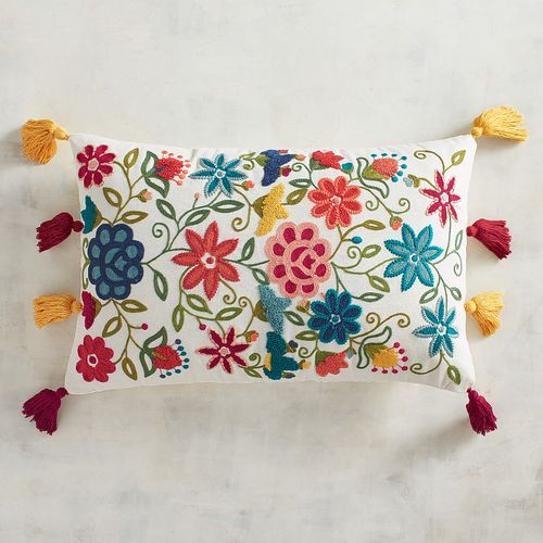 There S So Much To Love About Our Floral Pillow A Pretty Go With Anything Background Go Decorative Lumbar Pillows Decorative Pillows Decorative Throw Pillows