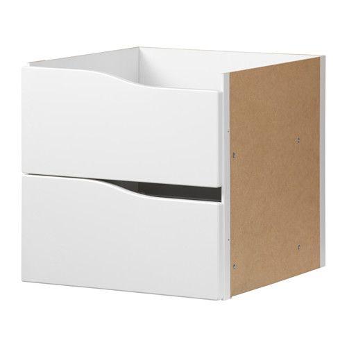IKEA - KALLAX, Bloc 2 tiroirs, blanc, , La finition soignée à l'arrière…