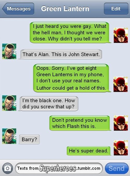 text from superheroes cracked ipad