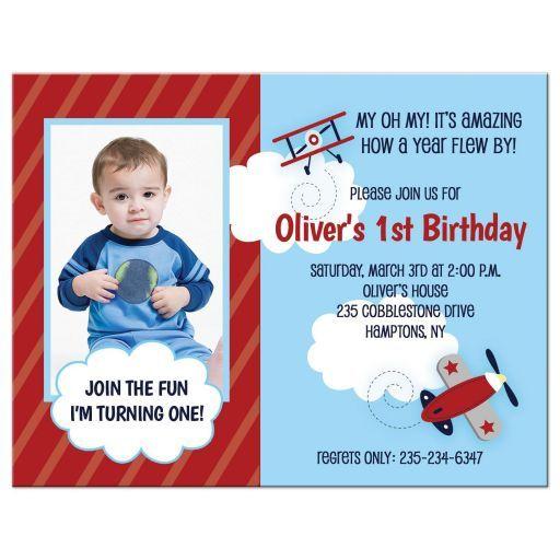 airplane aviator 1st birthday boy