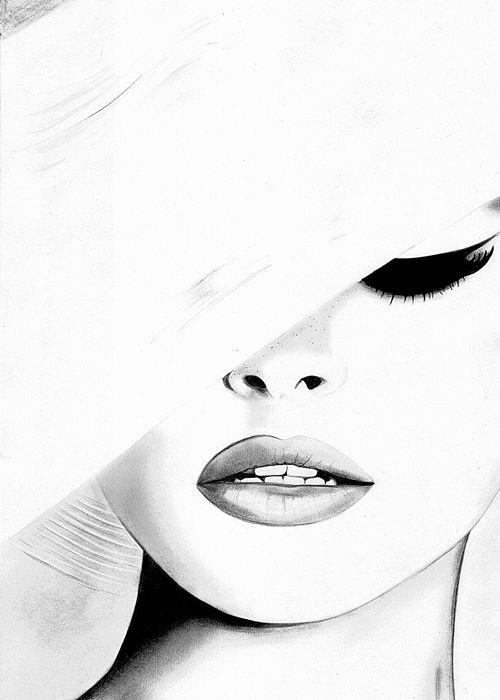 Fashion illustration - elegant fashion drawing // Kornelia Debosz