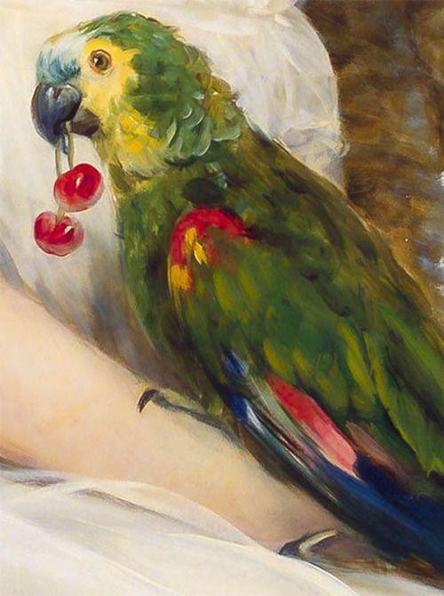 Christina Robertson (Scottish, 1796–1854) - Children with a Parrot (1850):