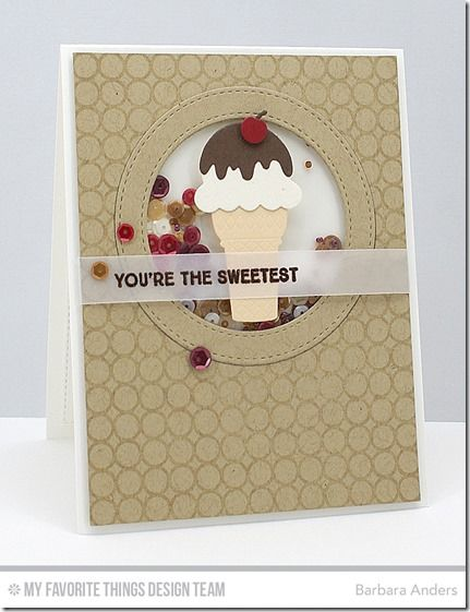 You're the Sweetest, Simply Circles Background, Stitched Circle Frames Die-namics, Sweet Treats Die-namics - Barbara Anders  #mftstamps