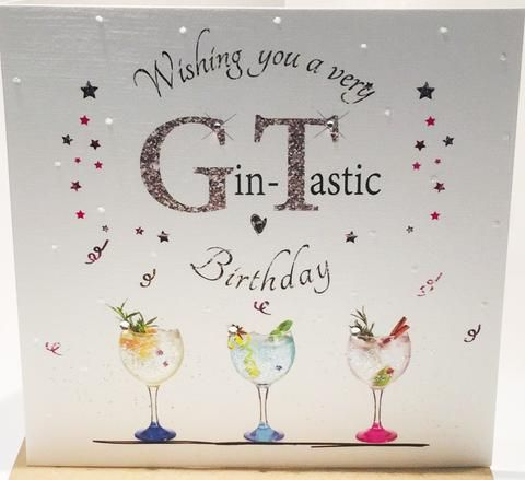 Birthday Card For Gin Lovers Herbysgifts Com In 2021 Birthday Cards Happy Birthday Drinks Happy Birthday Pictures