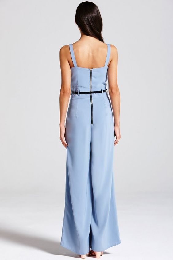 Outlet Girls On Film Blue Jumpsuit