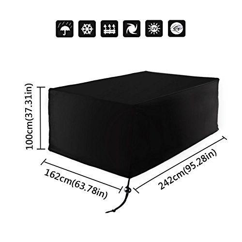 Xiliy Meubles Table Couverture Polyester Housse De Protection Pour