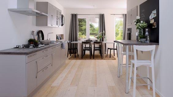 cuisine quip e matea style classique disponible en 2 coloris laqu taupe mat blanc. Black Bedroom Furniture Sets. Home Design Ideas