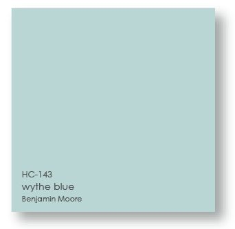 Wythe Blue Benjamin Moore is a gorgeous aqua turquoise color, perfect for a coastal style front door or a beachy cottage! teeped in tradition, the refined, elegant colors of the Historical Collection deliver timeless color that can be used in traditional as well as contemporary spaces. Unveiled in 1976 to celebrate the US bicentennial, a collection of 191 colors inspired by America's historic landmarks. #turquoisepaintcolor #bestturquoise #benjaminmoorewytheblue