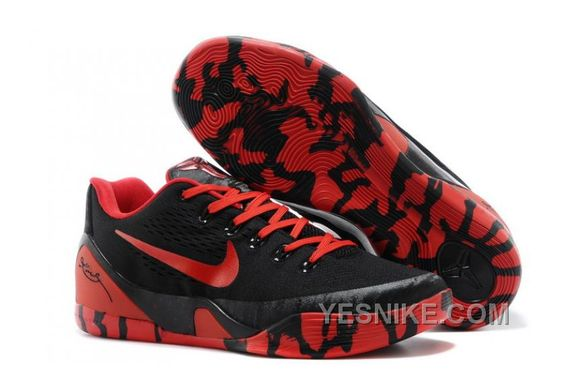 Nike Kobe 9 Low EM XDR Black Red For Sale 311775
