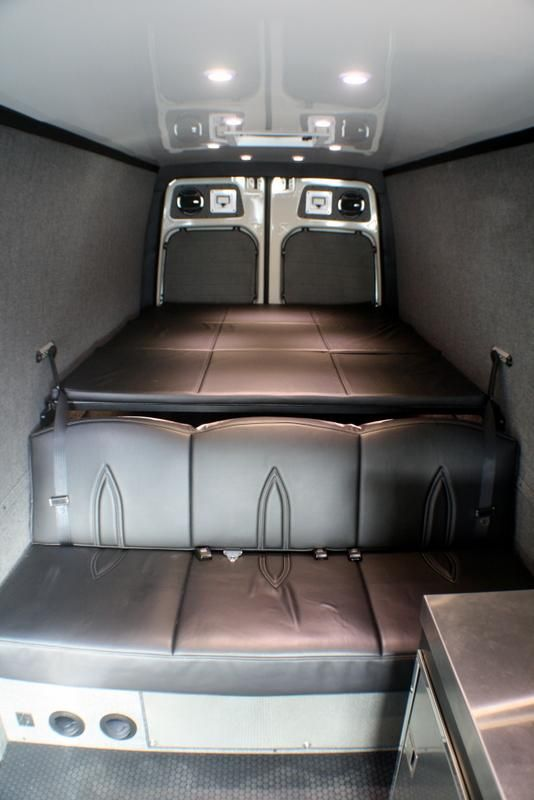 2007 Sprinter Van Panel Bed Assembly 144 Inch Wheel Base Rb Components In 2020 Sprinter Van Van Conversion Interior Sprinter