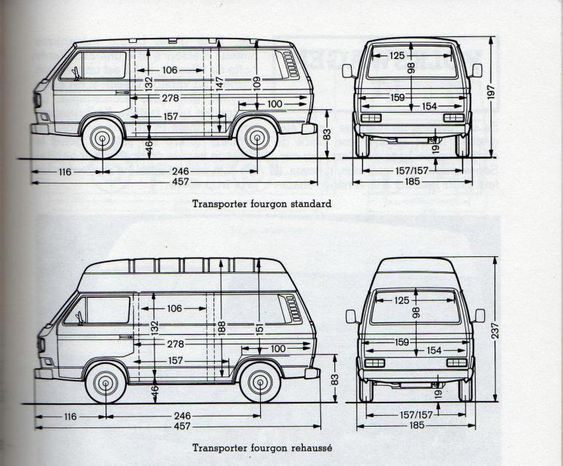 transporter t3 dimensions volkswagen van pinterest search. Black Bedroom Furniture Sets. Home Design Ideas