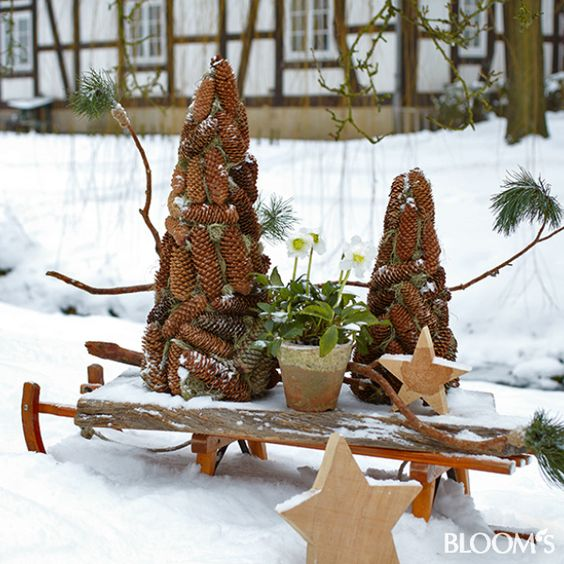 Garten winter dekoration garten pinterest dekoration for Dekoration im garten