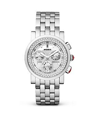 Michele Sport Sail High Shine Diamond Watch, 38mm | Bloomingdale's