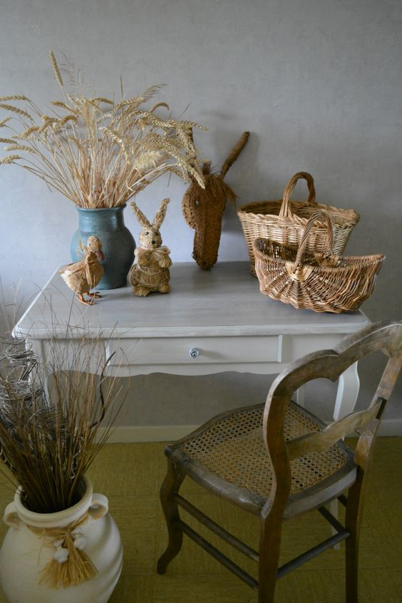 Table de style patin e argile pour une ambiance shabby for Autrefois decoration