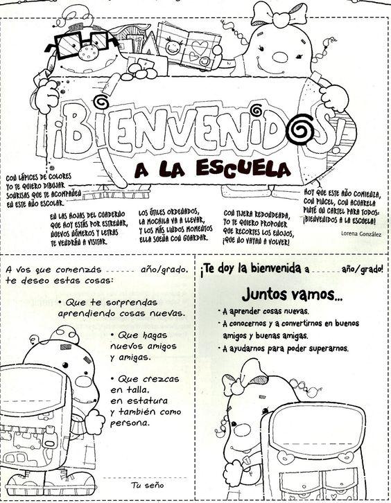Bienvenidos a la escuela first month spanish pinterest for Cancion de bienvenida al jardin
