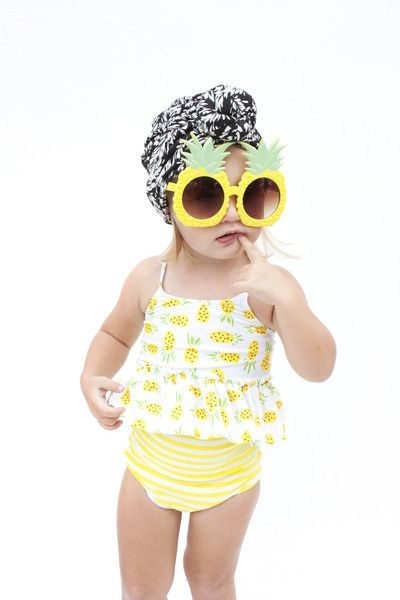 Little Ladies Swimsuits: Mini Tops & High-Waisted Bottoms | Kortni Jeane: