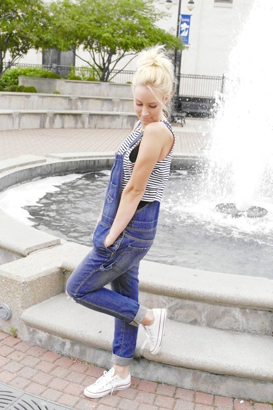 Love that overalls are back in style!  #overalls #jeans