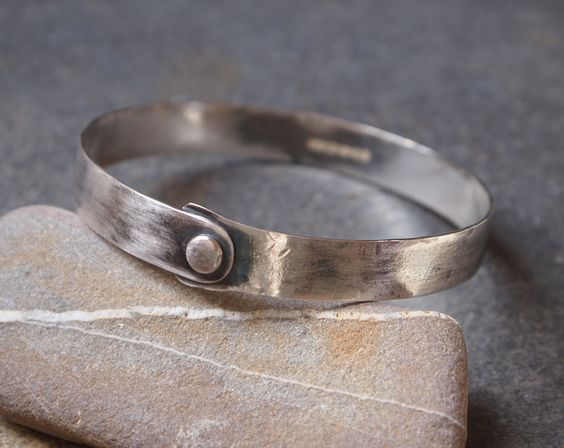 bangle, oxidised silver £62.00
