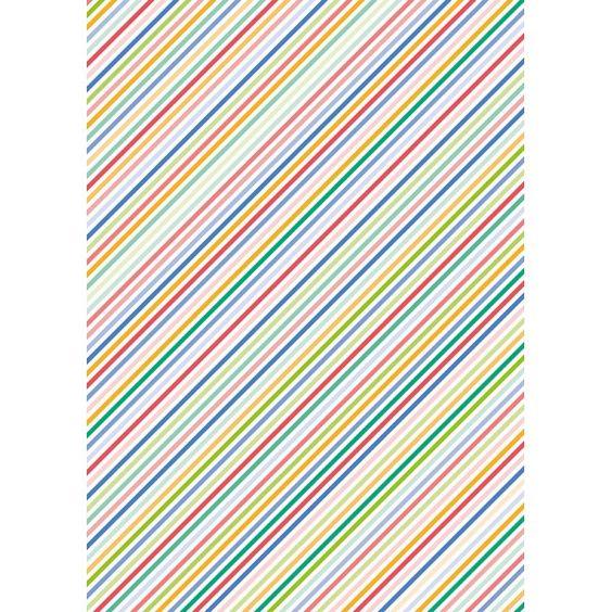Hoja papel seda rayas colores varios delipapel for Papel decorativo rayas