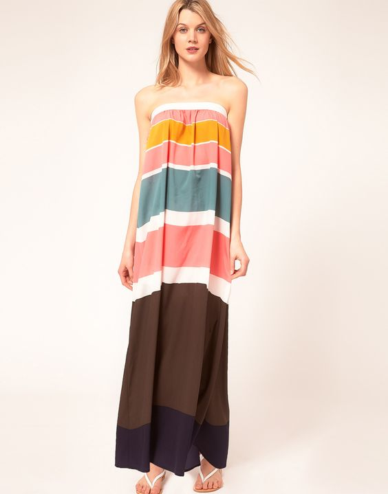 Princesse Tam Tam Color Block Beach Maxi Dress