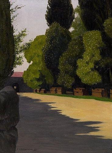 1920 Alyscamps - Felix Vallotton. Titulo original: Les Alyscamps. Realismo Mágico: